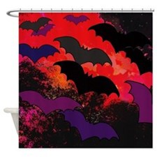 Bats In Flight Shower Curtain