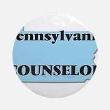 Pennsylvania Counselor Round Ornament