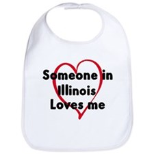 Loves me: Illinois Bib