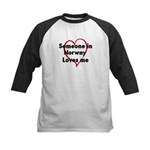 Loves me: Norway Kids Baseball Jersey