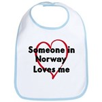 Loves me: Norway Bib