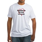 Loves me: Norway Fitted T-Shirt