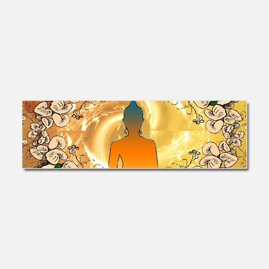 Buddha in the sunset Car Magnet 10 x 3