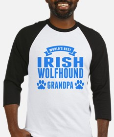 Worlds Best Irish Wolfhound Grandpa Baseball Jerse