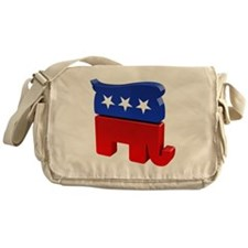 Republican Elephant with Trump Hair Messenger Bag