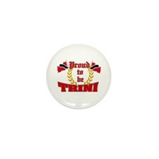 Proud to be Trini Mini Button (100 pack)