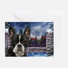 Festive Frenchie Greeting Cards