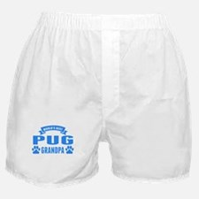 Worlds Best Pug Grandpa Boxer Shorts