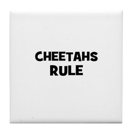 cheetahs rule Tile Coaster