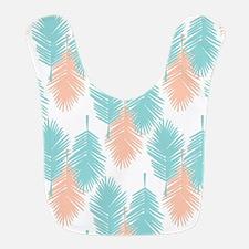 Tropical palm leaves pattern. Bib