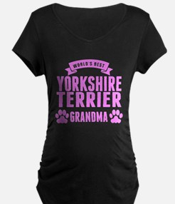 Worlds Best Yorkshire Terrier Grandma Maternity T-