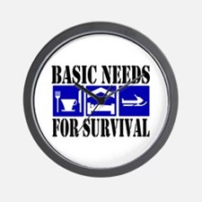 Basic Needs for Survival Wall Clock