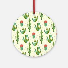 Cactus Pattern Round Ornament