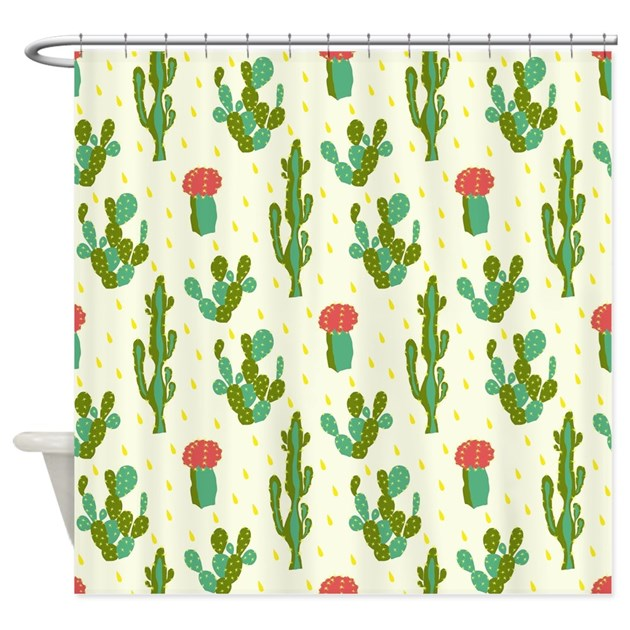 Cactus Pattern Shower Curtain By Admin Cp119159594