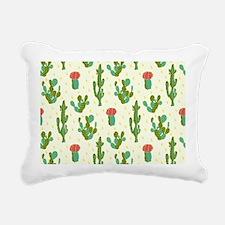 Cactus Pattern Rectangular Canvas Pillow