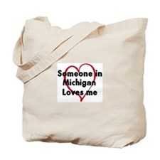 Loves me: Michigan Tote Bag