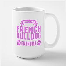 Worlds Best French Bulldog Grandma Mugs