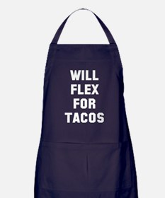 Will flex for tacos Apron (dark)
