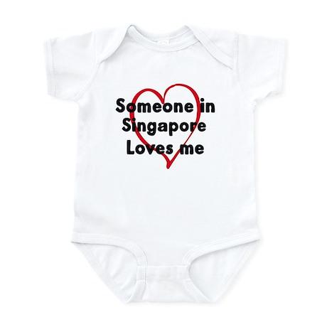 Loves me: Singapore Infant Bodysuit