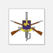 "Cute 2nd battalion 504th pir Square Sticker 3"" x 3"""