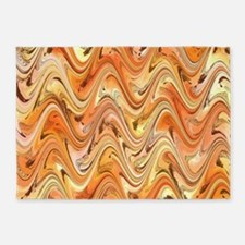 Wave in Orange 5'x7'Area Rug