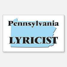 Pennsylvania Lyricist Decal