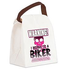 Biker Warning Canvas Lunch Bag