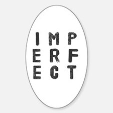 Cute Imperfect Sticker (Oval)