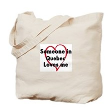 Loves me: Quebec Tote Bag