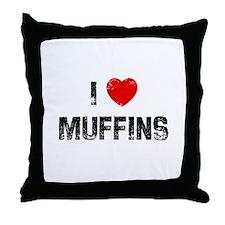 I * Muffins Throw Pillow