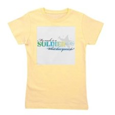 Cute Military uncle Girl's Tee