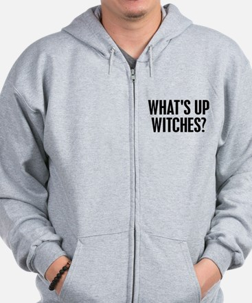 Halloween what's up witches? Zip Hoodie