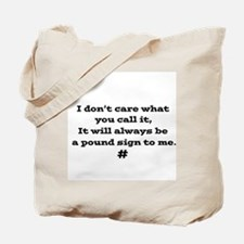Pound Sign Tote Bag
