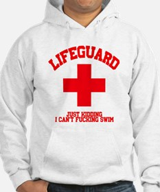Lifeguard Just Kidding Hoodie