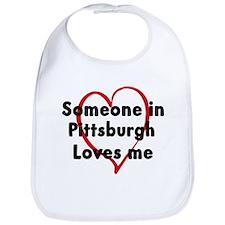 Loves me: Pittsburgh Bib
