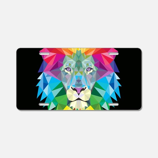 Rainbow Lion Aluminum License Plate