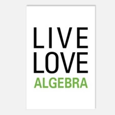 Live Love Algebra Postcards (Package of 8)
