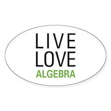Live Love Algebra Decal