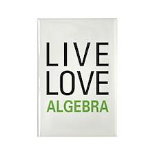 Live Love Algebra Rectangle Magnet