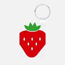 Cute Strawberries Keychains