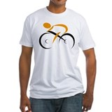 Cyclist Fitted Light T-Shirts