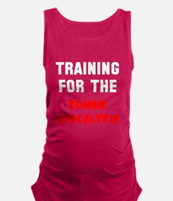 Training zombie apocalypse Maternity Tank Top