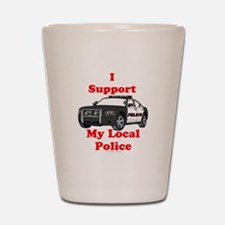 Support Local Police Shot Glass