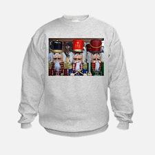 Three christmas nutcrackers Sweatshirt