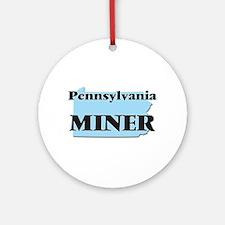Pennsylvania Miner Round Ornament