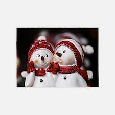 Snowman20150907 5'x7'Area Rug