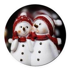 Snowman20150907 Round Car Magnet