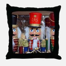 Three christmas nutcrackers Throw Pillow
