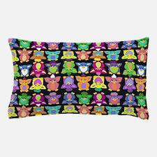 Furby Frenzy - On Black Pillow Case