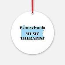 Pennsylvania Music Therapist Round Ornament